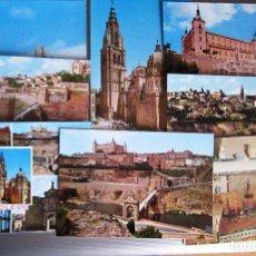 Postales: MUY ANTIGUAS 8 POSTALES DE TOLEDO 50/60. Lote 116236291