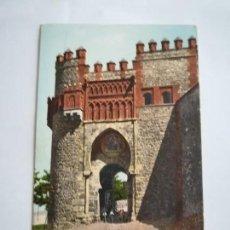 Postales: TOLEDO, PUERTA DEL SOL, AÑO 1908, DE TOLEDO A BRUSELAS. DORSO SIN DIVIDIR.. Lote 117044783