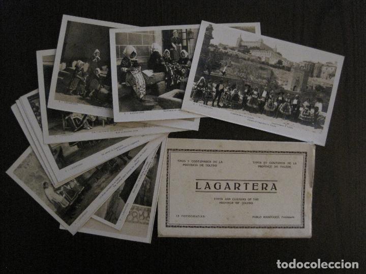 TOLEDO - LAGARTERA - LOTE 12 FOTOS - REVERSO BLANCO - POSTAL GIGANTE -VER FOTOS-(V-10.130) (Postales - España - Castilla La Mancha Antigua (hasta 1939))