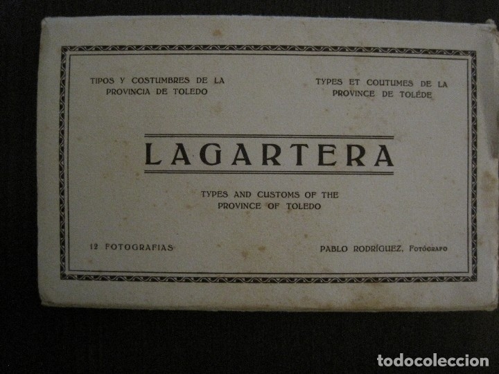 Postales: TOLEDO - LAGARTERA - LOTE 12 FOTOS - REVERSO BLANCO - POSTAL GIGANTE -VER FOTOS-(V-10.130) - Foto 2 - 118198919