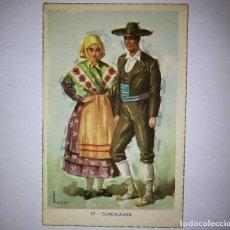 Postales: GUADALAJARA TUSER POSTAL TRAJES TIPICOS ESPAÑOLES LAIETANA SERIE 5507, 19 GUADALAJARA. Lote 119574119