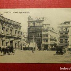 Postales: POSTAL - ESPAÑA - SEVILLA - PLAZA DE LA CONSTITUCIÓN - HAUSER Y MENET - SIN CIRCULAR. Lote 119695811