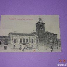 Postales: TARJETA POSTAL DE TOMELLOSO - IGLESIA Y CASINO SAN FERNANDO - FOT. L. SAUS (VANDERMAN) - AÑO 1930S.. Lote 121597395