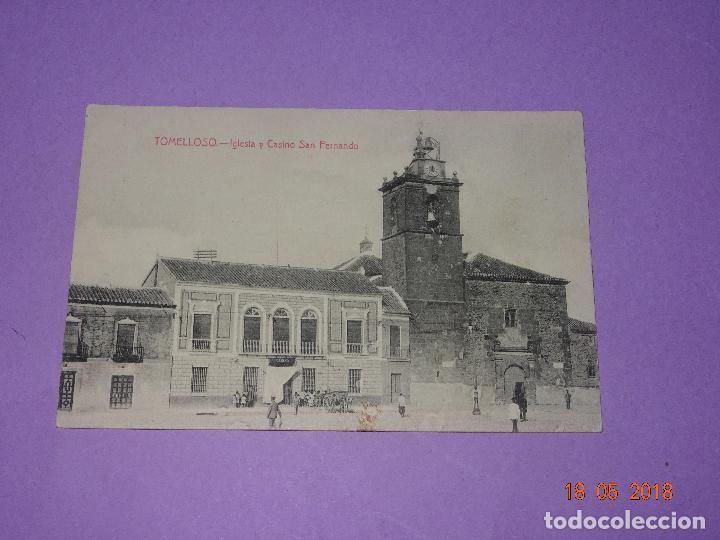 Postales: Tarjeta Postal de TOMELLOSO - IGLESIA Y CASINO SAN FERNANDO - Fot. L. Saus (Vanderman) - Año 1930s. - Foto 2 - 121597395