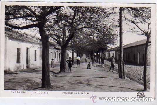 CIUDAD REAL. SANTA CRUZ DE MUDELA. Nº3. PASEO DE LA ESTACIÓN. SIN CIRCULAR. (Postkarten - Spanien - Altes Kastilien-La Mancha (bis 1939))