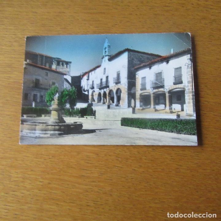 ANTIGUA POSTAL ATIENZA, GUADALAJARA, PLAZA DEL AYTO Y FUENTE DE LOS TRES DRAGONES (Postales - España - Castilla La Mancha Antigua (hasta 1939))