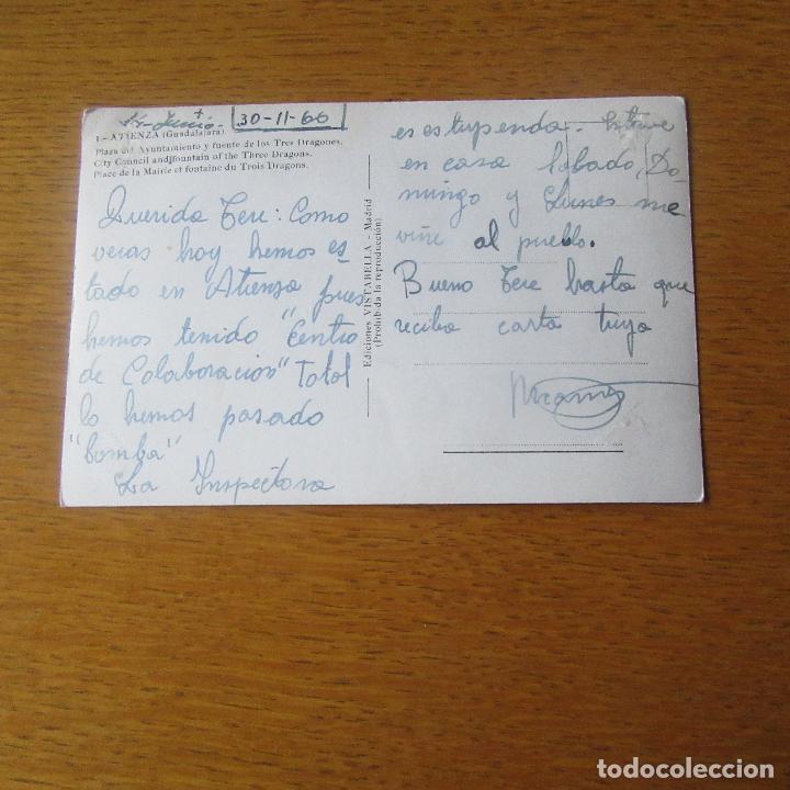 Postales: antigua postal atienza, guadalajara, plaza del ayto y fuente de los tres dragones - Foto 2 - 121911683