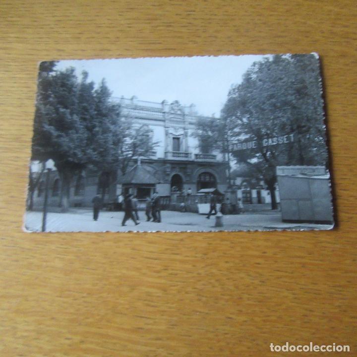 ANTIGUA POSTAL CIUDAD REAL, ENTRADA PARQUE GASSET (Postales - España - Castilla La Mancha Antigua (hasta 1939))