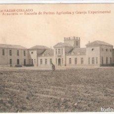 Postales: ALBACETE. ESCUELA DE PERITOS AGRÍCOLAS Y GRANJA EXPERIMENTAL.. Lote 122164279