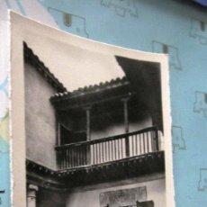 Postales: POSTAL ANTIGUA: TOLEDO. PATIO DE LA CASA DEL GRECO. MUY BUEN ESTADO. Lote 124250295