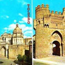 Postales: TOLEDO -CATEDRAL Y PUERTA DEL SOL- (L. ARRIBAS - TOLEDO Nº 1.439) SIN CIRCULAR / P-3552. Lote 124630171