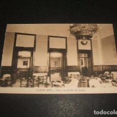 Postales: CIUDAD REAL SALON DE TERTULIA DEL CASINO. Lote 128178783