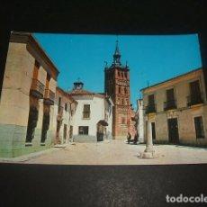 Postales: ILLESCAS TOLEDO PLAZA DE LA CARCEL Y TORRE DE LA IGLESIA PARROQUIAL. Lote 128182399