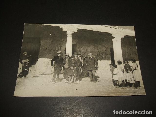 LUPIANA GUADALAJARA EXCURSIONISTAS POSTAL FOTOGRAFICA 1927 (Postales - España - Castilla La Mancha Antigua (hasta 1939))