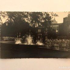 Postales: PUERTOLLANO (CIUDAD REAL) POSTAL. FUENTE LUMINOSA (DETALLE) EDITA: FOTO OÑA (H.1950?). Lote 129645280