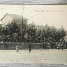 Postales: ANTIGUA Y BONITA POSTAL DE TOMELLOSO - GLORIETA Y TEATRO SERNA - FOTO LUIS SAUS VANDERMAN - CIUDAD R. Lote 131831766