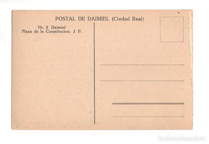 Postales: DAIMIEL (CIUDAD REAL).- PLAZA DE LA CONSTITUCION - Foto 2 - 132427990