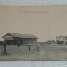 Postales: POSTAL DE TOMELLOSO (CIUDAD REAL)-ESTACION DE FERROCARRIL - L. SAUS - SIN CIRCULAR. Lote 132606890