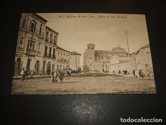ALCAZAR DE SAN JUAN CIUDAD REAL PLAZA DE SANT QUITERIA ED. FABRICA POSTALES CASA REYES GRANADA (Postales - España - Castilla La Mancha Antigua (hasta 1939))