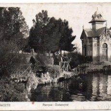 Postales: PS8010 ALBACETE 'PARQUE-ESTANQUE'. FOTOGRÁFICA. L. ROISÍN. CIRCULADA. 1944. Lote 133175466