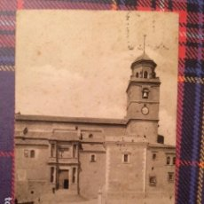 Postales: HELLIN (ALBACETE) IGLESIA DE LA ASUNCION. FOTO MESAS. LIBRERIA MARIANO ARAMBURO. CIRCULADA 1955. Lote 135058758