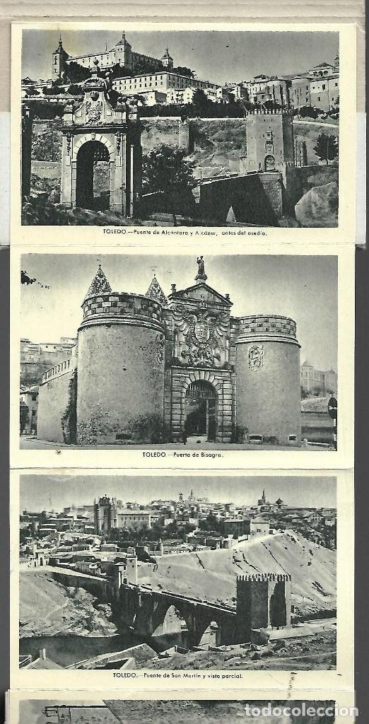 Postales: BLOC DE 12 POSTALES EN ACORDON DE - TOLEDO - 2º SERIE - EDIT. HELIOTIPIA ARTISTICA ESPAÑOLA - Foto 3 - 137651058