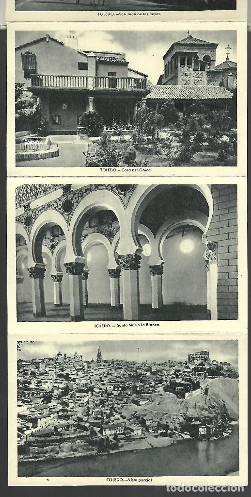 Postales: BLOC DE 12 POSTALES EN ACORDON DE - TOLEDO - 2º SERIE - EDIT. HELIOTIPIA ARTISTICA ESPAÑOLA - Foto 4 - 137651058