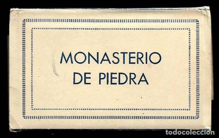 BLOC DE 10 POSTALES EN ACORDEON DEL - MONASTERIO DE PIEDRA - (Postales - España - Castilla La Mancha Antigua (hasta 1939))