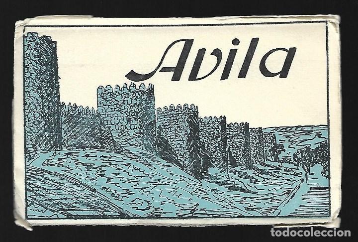 BLOC DE 10 POSTALES EN ACORDEON DE - AVILA - EDIT. HELIOTIPIA ARTISTICA ESPAÑOLA (Postales - España - Castilla La Mancha Antigua (hasta 1939))