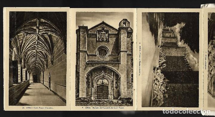Postales: BLOC DE 10 POSTALES EN ACORDEON DE - AVILA - EDIT. HELIOTIPIA ARTISTICA ESPAÑOLA - Foto 3 - 137660558