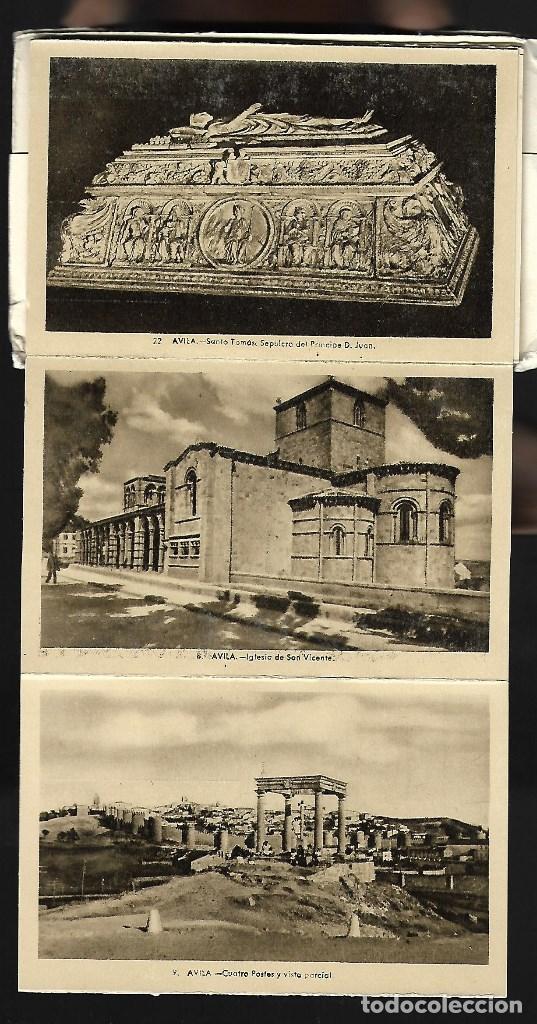 Postales: BLOC DE 10 POSTALES EN ACORDEON DE - AVILA - EDIT. HELIOTIPIA ARTISTICA ESPAÑOLA - Foto 4 - 137660558