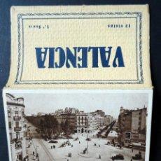 Postales: ANTIGUA CARPETA CON 12 POSTALES EN ACORDEÓN DE VALENCIA, EDICIONES JDP VALENCIA. Lote 137822282