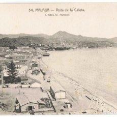 Postales: TARJETA POSTAL MALAGA VISTA DE LA CALETA Nº 34. Lote 138690790