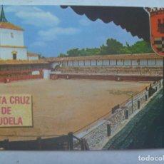Postales: POSTAL DE LAS VIRTUDES, SANTA CRUZ DE MUDELA ( CIUDAD REAL ) : PLAZA DE TOROS CUADRADA, AÑO 1641. Lote 138955726