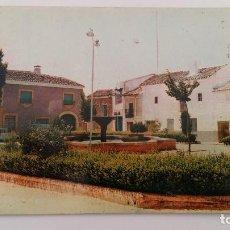 Postales: POSTAL. PLAZA DEL CAUDILLO OSSA DE MONTIEL ALBACETE. Lote 185718396