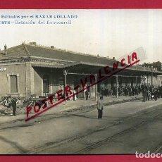 Postales: POSTAL ALBACETE , ESTACION FERROCARRIL , FOTOGRAFICA , ORIGINAL, P347. Lote 139202718