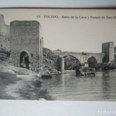 Postales: TOLEDO BAÑO DE LA CAVA Y PUENTE DE SAN MARTÍN. Lote 140877034