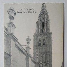 Postales: TOLEDO TORRE DE LA CATEDRAL. Lote 140877638