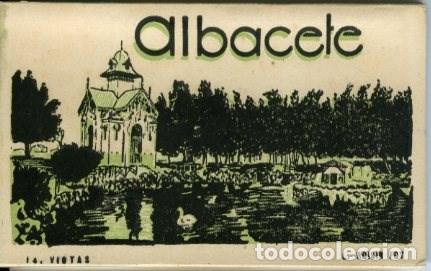ALBACETE. ACORDEÓN CONTENIENDO 14 VISTAS. EDICIÓN L. ROISIN, FOT. (Postales - España - Castilla La Mancha Antigua (hasta 1939))
