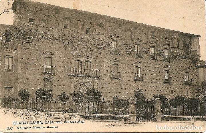 GUADALAJARA - CASA DEL INFANTADO - HAUSER Y MENET - SIN CIRCULAR (Postales - España - Castilla La Mancha Antigua (hasta 1939))