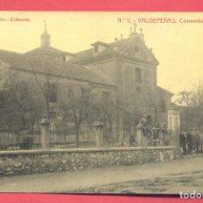 Postales: VALDEPEÑAS(C.R.) 5-CONVENTO DE AGUSTINAS, ALBI Y MERLO ED.CIRCULADA CON SELLO 1912 VER FOTOS. Lote 142360278