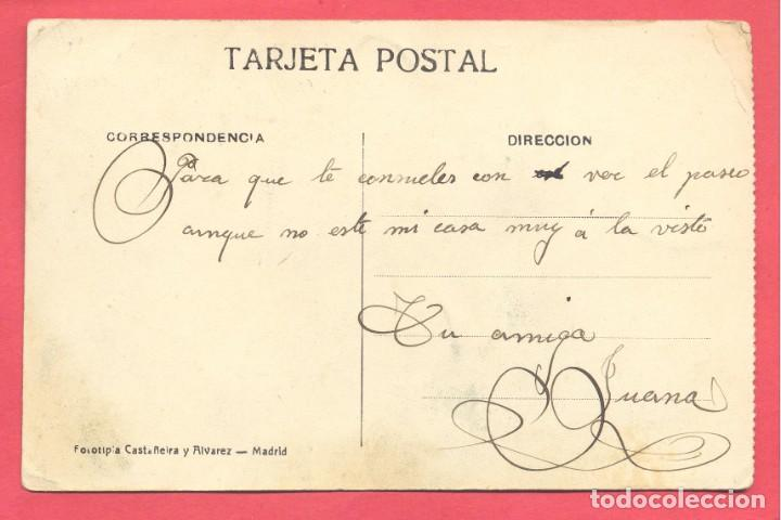 Postales: valdepeñas(c.r.) paseo de la estacion, escrita en reverso, fototipia castañeira y alvarez, ver fotos - Foto 2 - 142362406