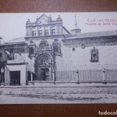 Postales: TARJETA POSTAL - TOLEDO - 422.- HOSPITAL DE SANTA CRUZ - CASTAÑEIRA Y ALVAREZ - AÑO 1914. Lote 143924034