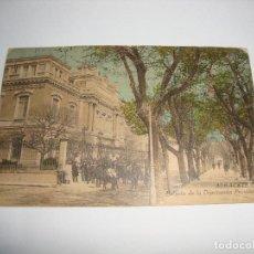 Postales: (ALB-TC-40) INTERESANTE POSTAL ALBACETE PALACIO DE LA DIPUTACION PROVINCIAL ESCRITA SIN SELLO . Lote 144331086