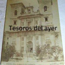 Postales: FOTOGRAFIA ALBUMINA DE TOLEDO, IGLESIA DE SAN JUAN BAUTISTA, NUM. 38, J. LACOSTE (SUCESOR DE LAURENT. Lote 145480006