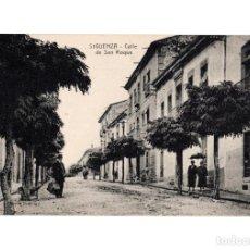 Postales: SIGÜENZA.(GUADALAJARA).- CALLE DE SAN ROQUE. Lote 146362982
