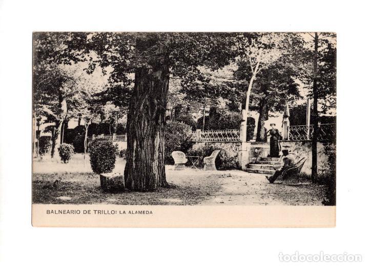 BALNEARIO DE TRILLO.(GUADALAJARA).- LA ALAMEDA (Postales - España - Castilla La Mancha Antigua (hasta 1939))