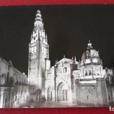 Postales: POSTAL TOLEDO CATEDRAL ILUMINADA. Lote 146398726