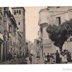 Postales: TOLEDO.- CALLE DE SANTO TOME. Lote 146628650