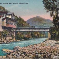 Postales: BELMONTE (CUENCA) - EL PUENTE DE SAN MARTIN. Lote 146685046